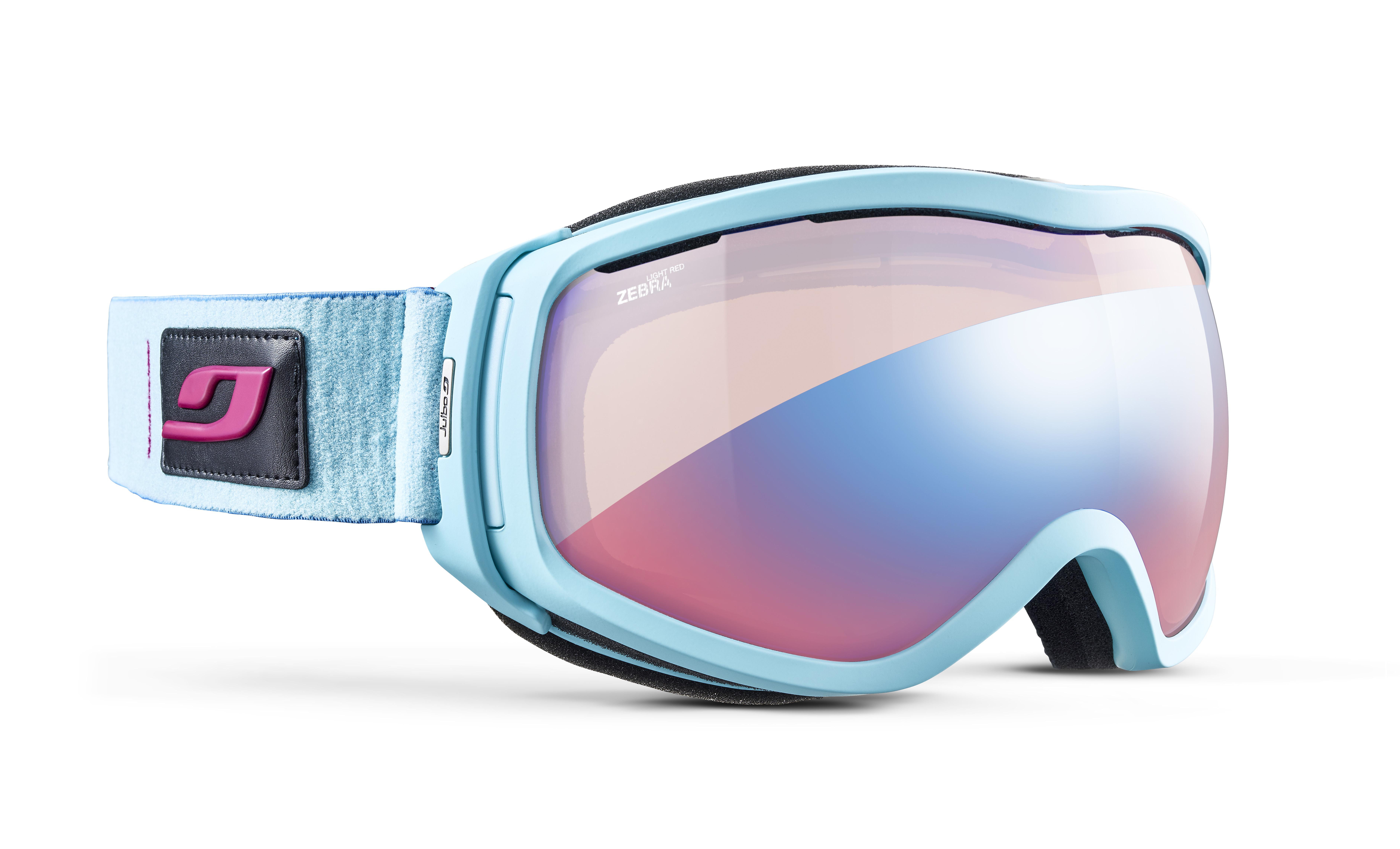 Image of   Julbo Elara Ski Goggles - Blue - Zebra Light Red