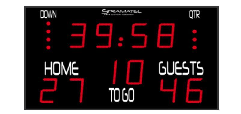 Image of   Stramatel FRA US resultattavle - 2200 x 1300 mm