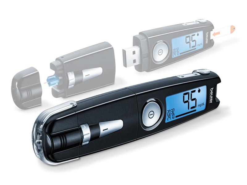 Beurer GL50 Glucosemeter BE (mg/dL)  - Zwart