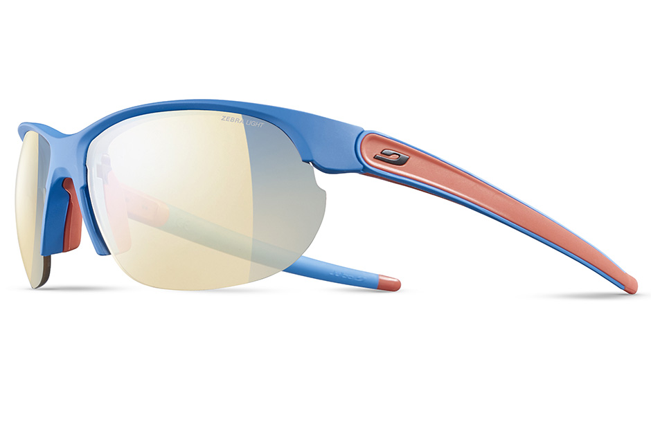 Image of   Julbo Breeze Zebra Light Blue Sunglasses - Matt Blue / Coral