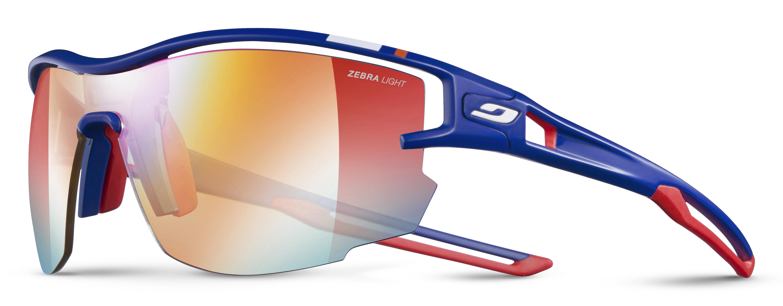 Image of   Julbo Aero Zebra Light Fire Pro Model MF Sportsbriller Large - Blå / Rød + Buff