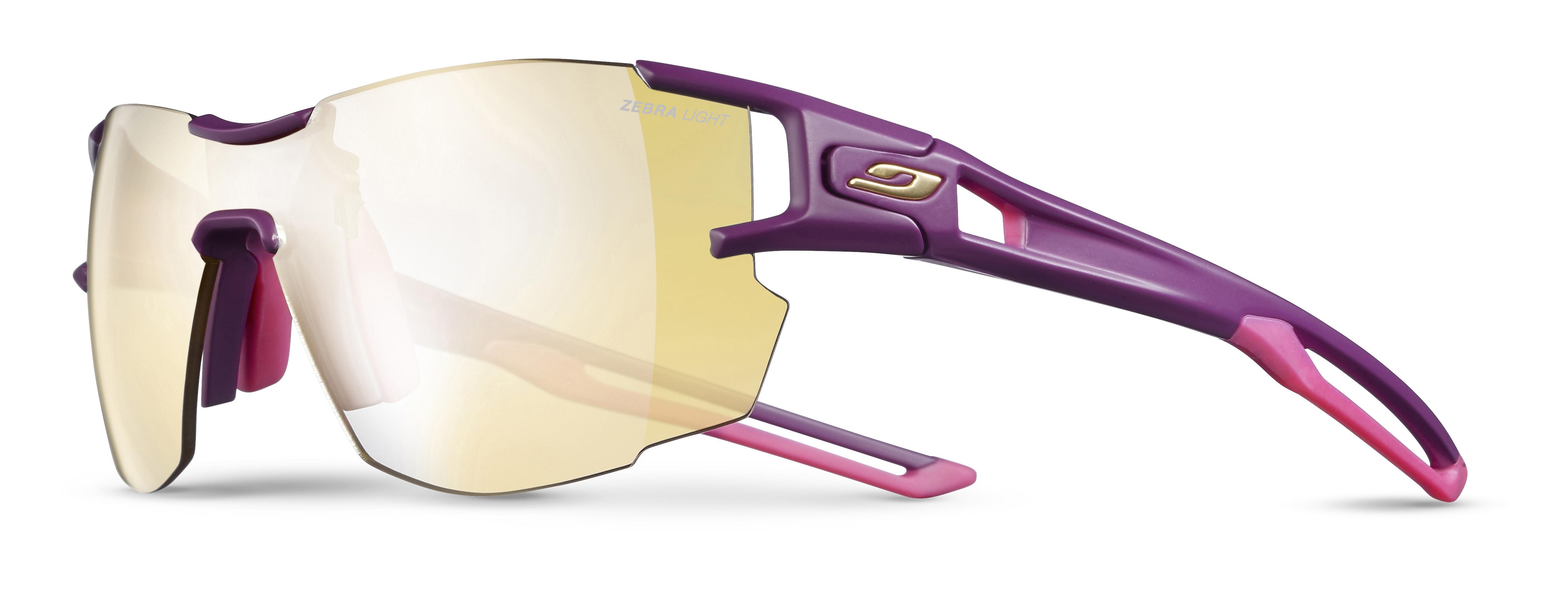 Image of   Julbo Aerolite Zebra Light Sunglasses - Purple/Rubine Red