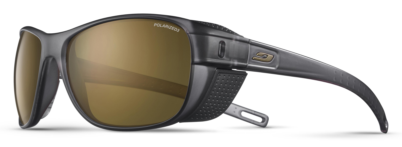 Image of   Julbo Camino Polarized 3+ Sunglasses - Translucide Dark Grey / Black