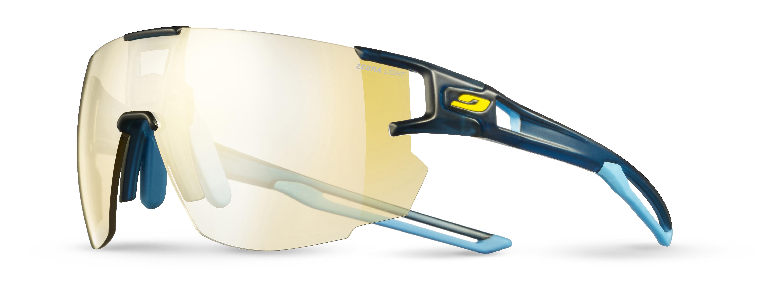 Image of   Julbo Aerospeed Zebra Light Sunglasses - Translu Blue / Blue / Yellow