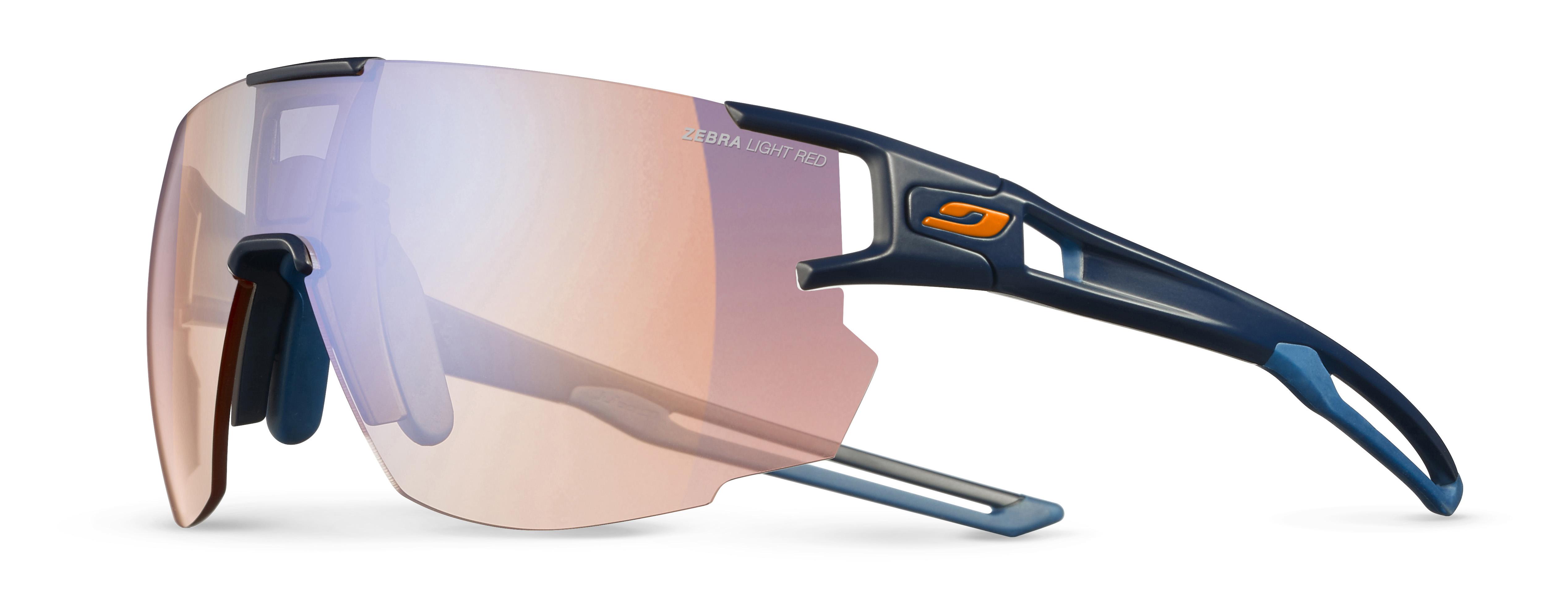 Image of   Julbo Aerospeed Zebra Light Red Sunglasses - Dark Blue / Dark Blue / Orange
