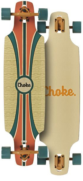 Image of   Choke Tracer Dropthrough Longboard 37,5 tommer