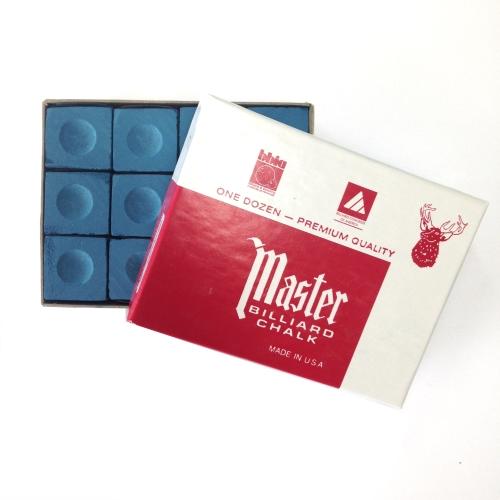 Image of   Billiard Chalk Master Blå, 12 stykker