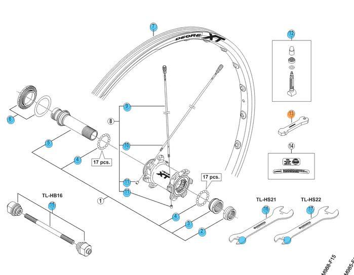 Shimano Nippel Sleutel WH-M985/785