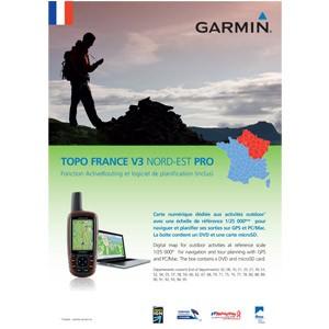 Garmin Topo Frankrijk Noordoost V4 Pro DVD & MicroSD