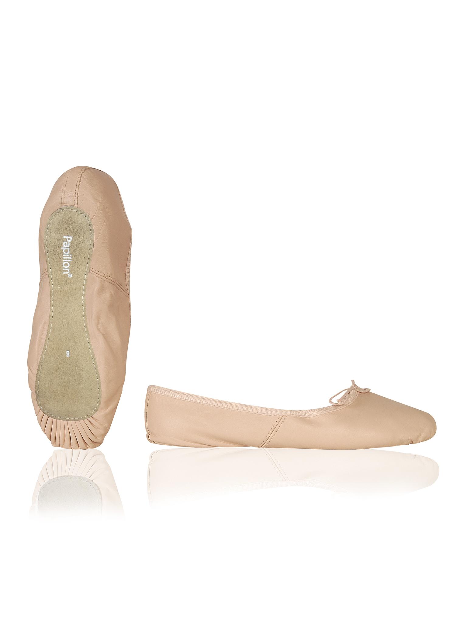 Image of   Papillon Ballet sko Mørk lærred fuld såle Piger - Pink - 15