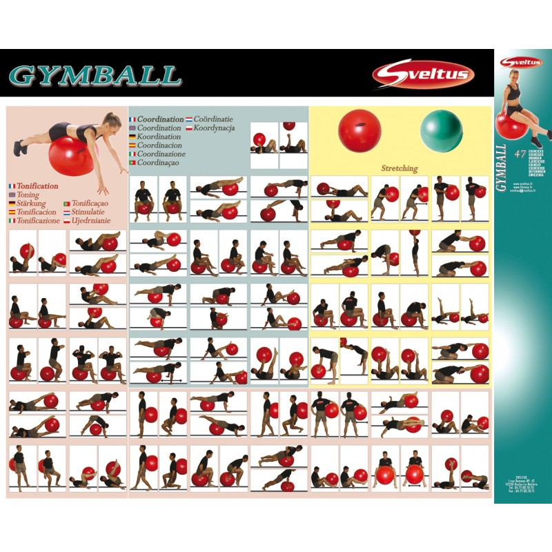 oefeningen met fitnessbal