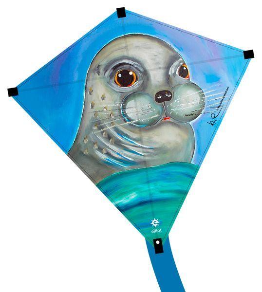 Image of   Elliot Eddy 75 Kids Kite - Seal