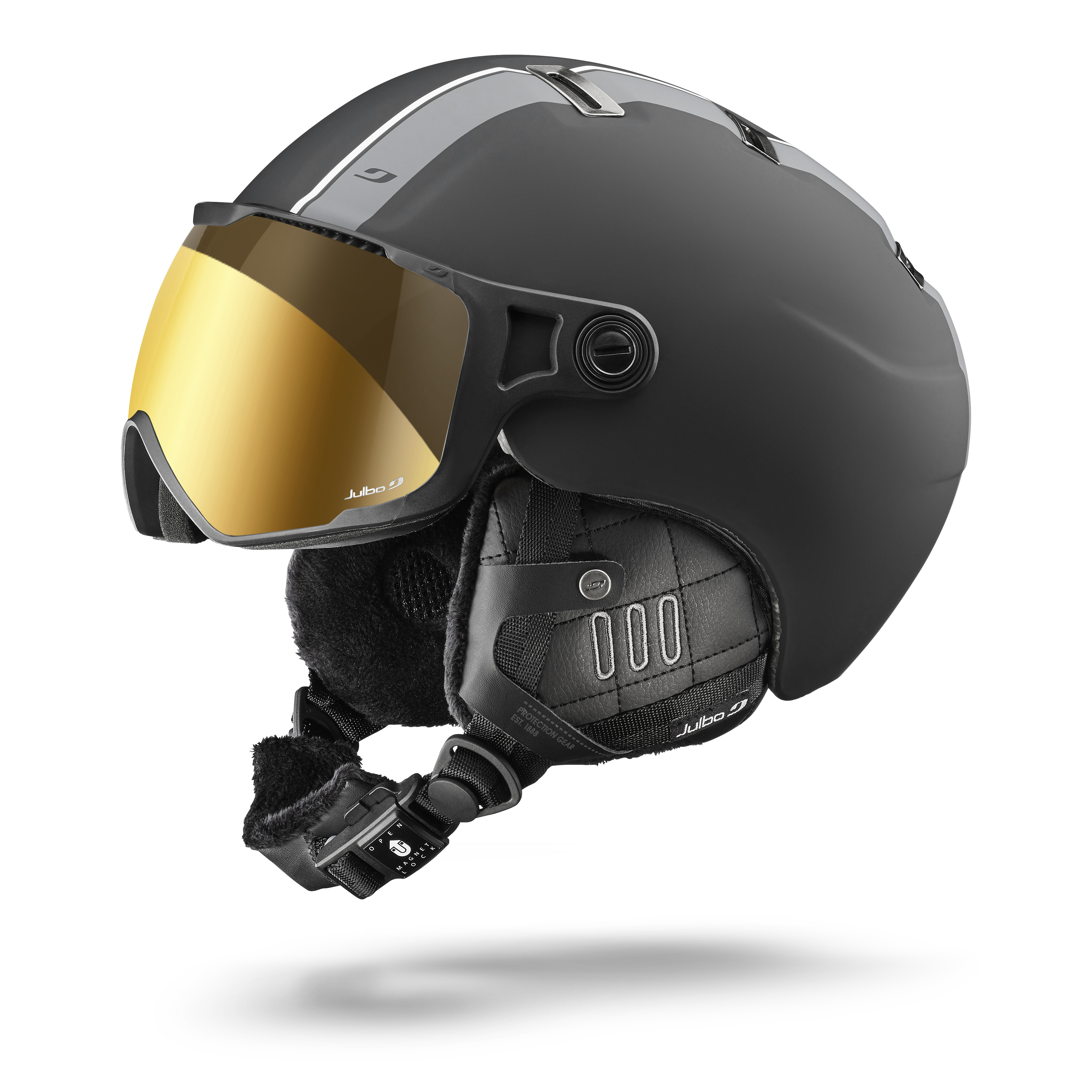 Image of   Julbo Sphere Visor Helmet - black / grey Zebra lens - M