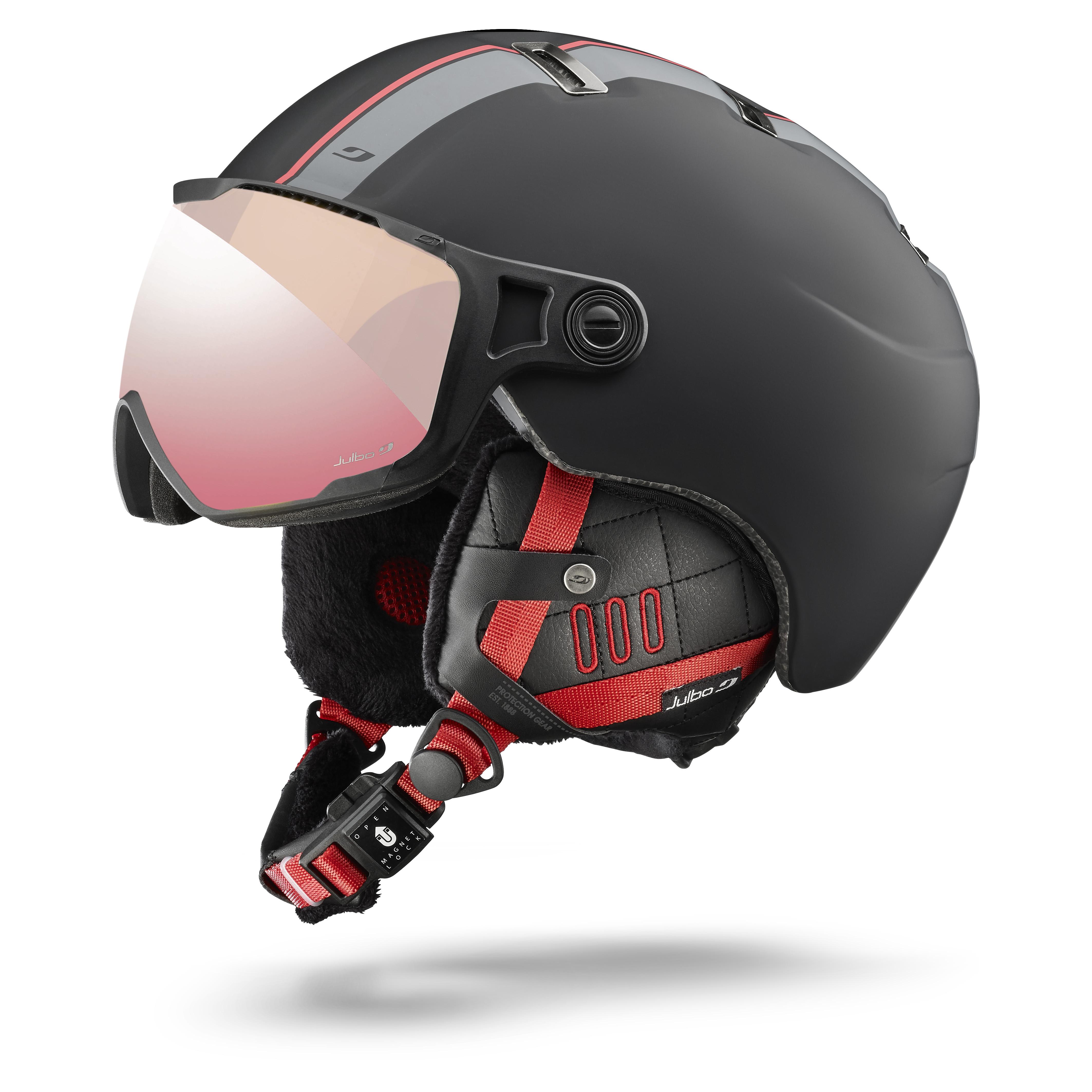Image of   Julbo Sphere Visor Helmet - black / red Zebra Light lens