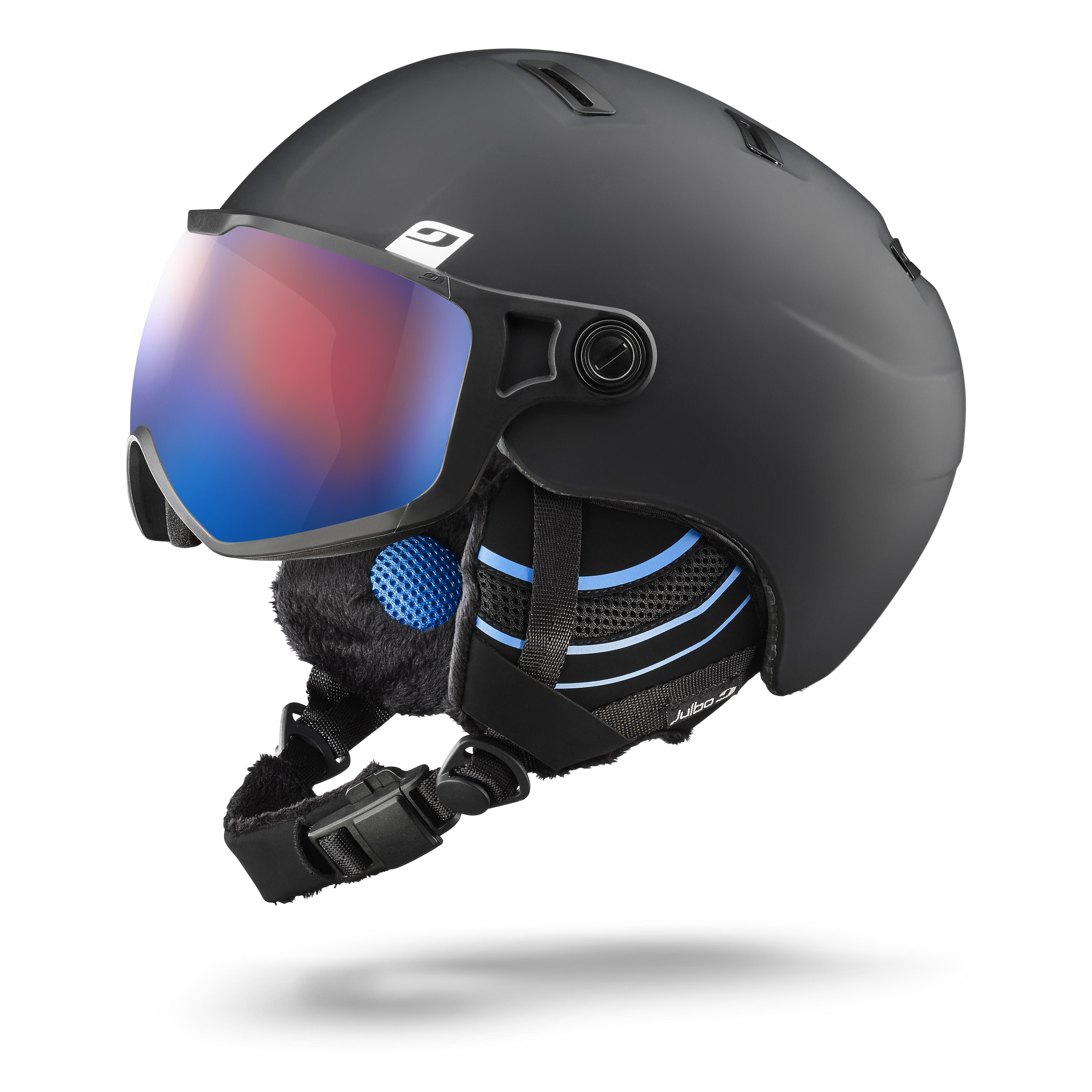Image of   Julbo Strato Visor Helmet - black / blue Cat 3 Polarized Flash blue lens