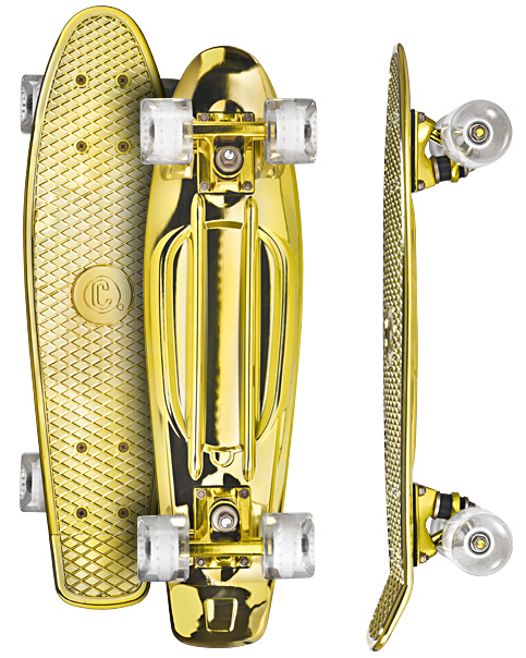 Image of   Choke Juicy Susi Skateboard - 22,5 x 6 tommer - Gold Digger