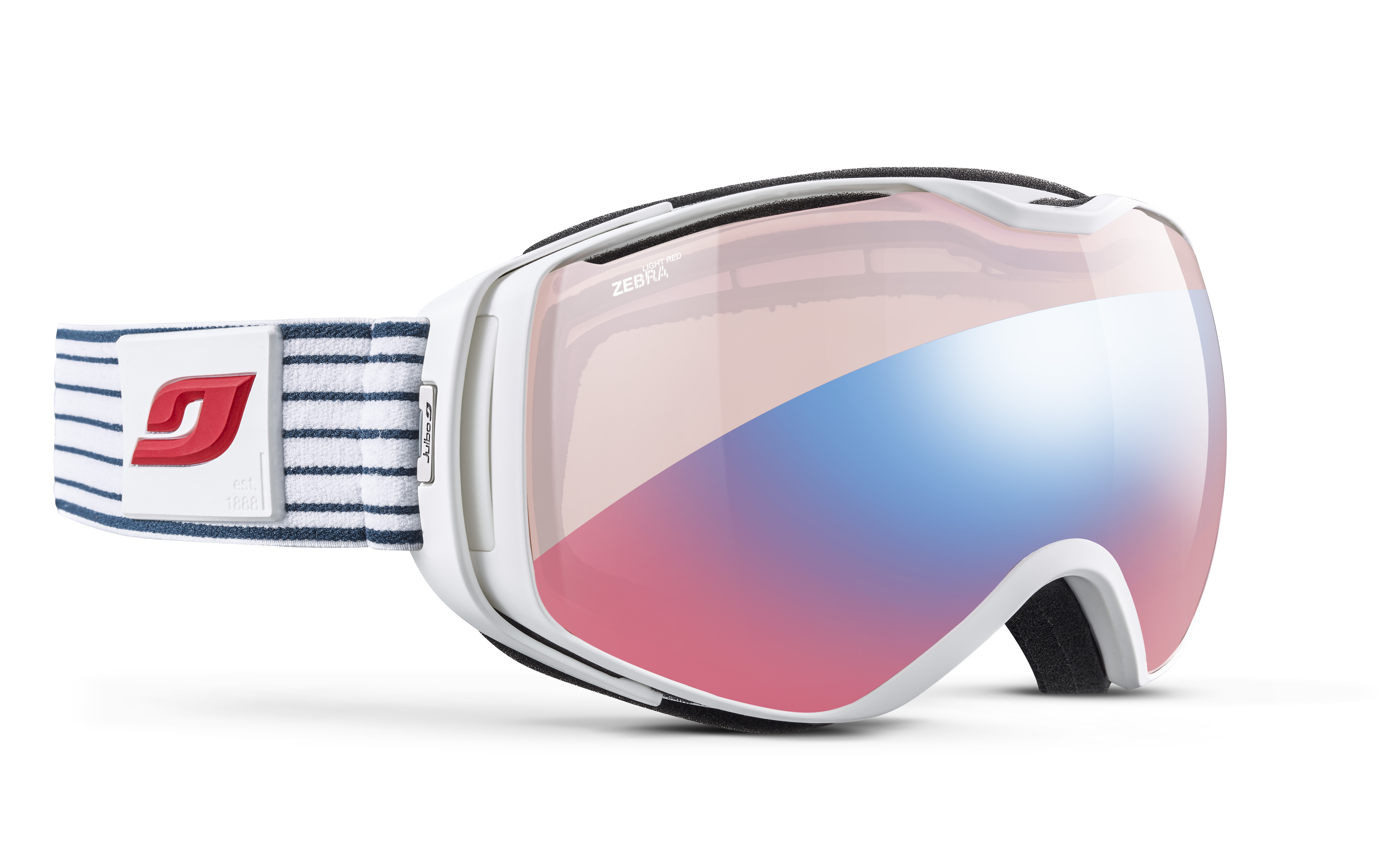 Image of   Julbo Universe Ski Goggles - Blue - Zebra Light Red