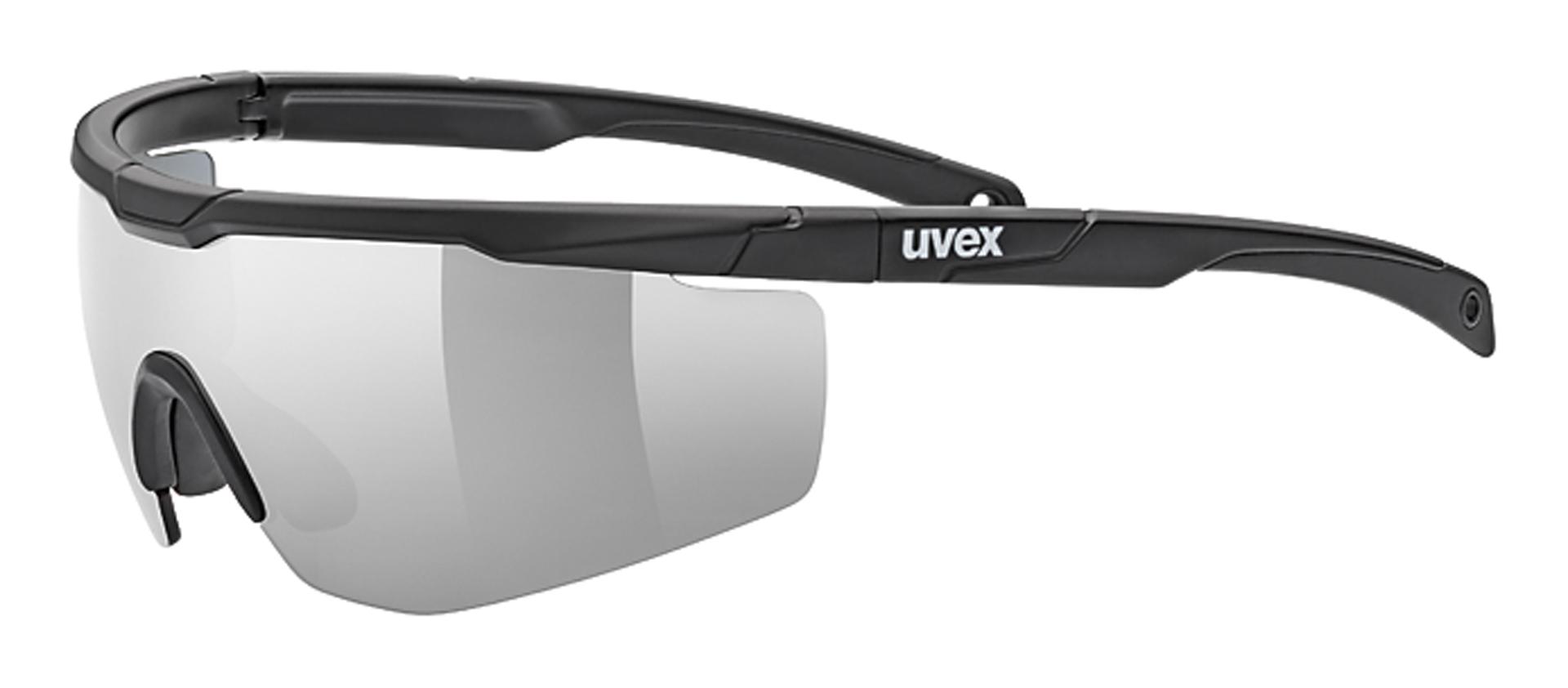 Uvex Sportstyle 117 Sportbril - Mat Zwart - Litemirror Zilver