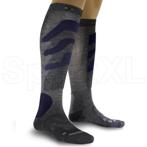 Image of   X-Socks Precicion Ski Mænd - Grå / Blå