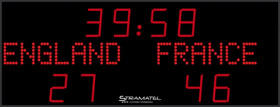 Image of   Stramatel FRA AD Scoreboard - 3000 x 1150 mm