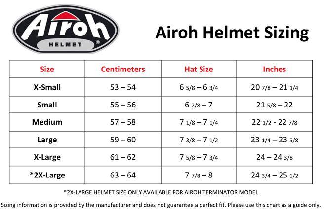 airoh_helmet_size_chart