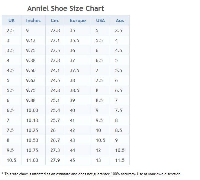 anniel_shoes_size_chart
